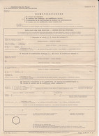 8698FM- REQUEST FOR POSTAL SERVICES, UNUSED POSTAL OFFICE FORM, 1952, ROMANIA - Other