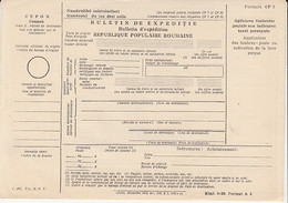 8699FM- SHIPPING BULLETIN, UNUSED POSTAL OFFICE FORM, 1952, ROMANIA - Other