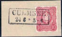 CULMSEE 24/6 Auf 10 Pfennige Karmin - DR Nr. 33 A - Pracht - Usados