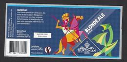 Etiquette De Bière Blonde Ale   -  Brasserie Burtonian  à  Castres   (81) - Beer