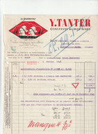 "56-Y.Tanter..."" Les Jeannettes "" Conserves Alimentaires......Quiberon.....(Morbihan)...1942 - Food"
