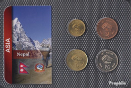 Nepal 1997 Stgl./unzirkuliert Kursmünzen 1997 1 Rupee Bis 10 Rupees - Nepal