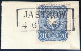 JASTROW 4/6 Auf 20 Pfennige Ultramarin - DR Nr. 34 A - Pracht - Usados
