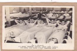 Boys In Hammocks U.S Naval Training Station Great Lakes Illinois - Barracks