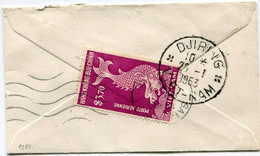 VIET-NAM LETTRE AVEC AFFRANCHISSEMENT AU DOS DEPART DJIRING 29-1-1953 VIET-NAM POUR LA SUISSE - Vietnam