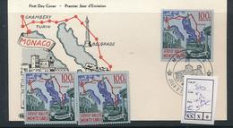 MONACO 1959 YVERT 510 X 2 MNH SAANS CHARNIERE + FDC - Unused Stamps