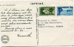 VIET-NAM IMPRIME DEPART SAIGON 30-?-1953 VIET-NAM POUR LA FRANCE - Vietnam