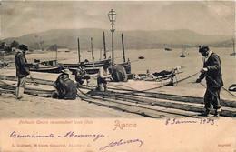 France - Corse - Ajaccio - Pêcheurs Corses Raccomodant Leurs Filets - Ajaccio