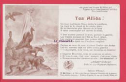 ILLUSTRATEUR -HERMANN--Tes Allies--Sonnets De André Soriac Poilu Au 277° Regiment D'Infanterie - Patriotic