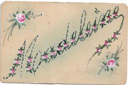 L30F306 - Délicat Dessin Du Prénom De Madeleine Agrémenté De Roses - - Other