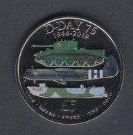 Guernsey 2019 D Day Anniversary 75th, £5 Coin UNC - Guernsey