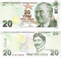 TURKEY 20 LIRA 2009 (2020) P 224d - UNC - Turkey