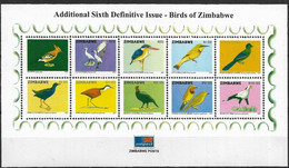 ZIMBABWE 2007 BIRDS MINISHEET - Zimbabwe (1980-...)