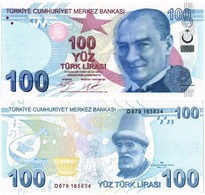 TURKEY 100 LIRA 2009 (2017) P 226c - UNC - Turkey