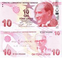 TURKEY 10 LIRA 2009 (2021) P 223d - UNC - Turkey