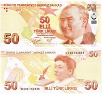 TURKEY 50 LIRA 2009 (2020) P 225d - UNC - Turkey