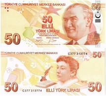 TURKEY 50 LIRA 2009 (2017) P 225с - UNC - Turkey
