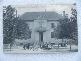 Cpa LA CHAPELLE DE GUINCHAY  Ecole De Filles  71 Saône Et Loire - Other Municipalities