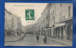 SAINT AMBROIX   Avenue De La Gare   Animées   écrite En 1912 - Saint-Ambroix