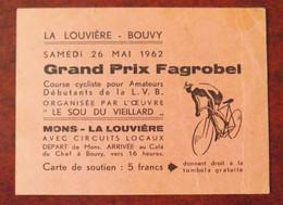 Ticket Grand Prix Cyclisme Fagrobel La Louvière-Bouvy - Tickets - Vouchers