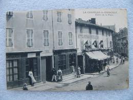 Cpa LA CHAPELLE DE GUINCHAY Entrée De La Place Hôtel Peinture Cordonnier  71 Saône Et Loire - Other Municipalities