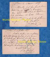 2 CPA Précurseur De 1877 - SAINT ETIENNE ( Loire ) - Signature à Identifier , LESSER ? - Rue Balay - RARE - Saint Etienne