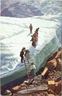 """74. Illustrateur.  """"Oilette"""".  Mont Blanc. Glacier Des Bossons. - Chamonix-Mont-Blanc"""