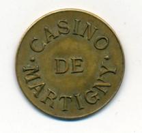 JETON De CASINO // MARTIGNY-LES-BAINS (88) // Cinq Centimes - Casino