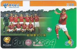 CHINA H-700 Prepaid ChinaTelecom - Event, Sport, Soccer, European Championship - Used - Chine
