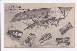 CP 30 NIMES Un Bon Souvenir (Aeroplane) - Nîmes