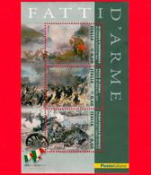 ITALIA - Usato - 2011 - Fatti D'arme - BF - 0,60 € × 3 (€) • Scene Di Battaglie - Blocs-feuillets