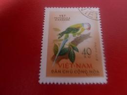 VIET-NAM - Dan Chu - Cong-Hoa - Buu Chinh - Vet Psittacula Alexandri - Val 40 Xu - Multicolore - Oblitéré - - Vietnam
