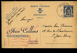 Publibel Obl. N° 580 ( Jean Callens Maître Tapissier Décorateur) Obl. WOLUWE - B 1 B - 10/04/45 - Publibels