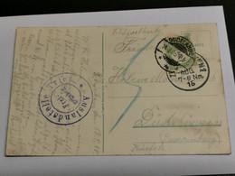 Carte Postale, Zweibrucken. Oblitéré Dudelange 1915. Censuré WW1. Feldpost - Andere