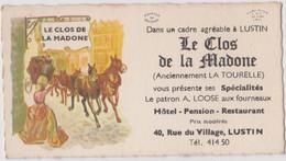 CDV 10 X 5,5 Cm Lustin Le Clos De La Madone - Visiting Cards