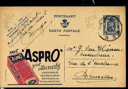 Publibel Obl. N° 579 ( ASPRO  Contre Tout Maux) Obl. BRUGGE - G 3 G - Du 18/02/45 - Publibels