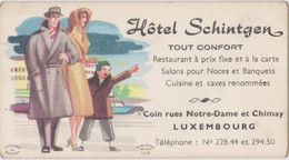 CDV 10 X 5,5 Cm Luxembourg Hotel Schintgen - Visiting Cards