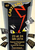 BOURSES & SALONS DE COLLECTION - PARIS - CARTEXPO 63 (23-24 Mai 2014) Espace Champerret - CPM Grand Format - Beursen Voor Verzamellars