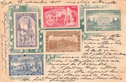 PARIS  - EXPOSITION UNIVERSELLE 1900 - Avec Timbres  Pré  Imprimés ( Verso Timbre Perforé M. P ) - Exhibitions