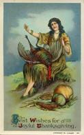 66425 U.s.a. Postcard Not Circuled, Best Wishes For A Joyful Thanksgiving, - Thanksgiving