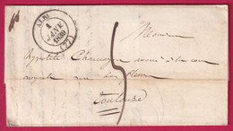 1ER JANVIER 1839 CAD TYPE 14 ALBI TARN POUR TOULOUSE - 1801-1848: Vorläufer XIX