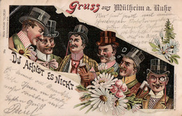 "Gruss Aus Mülheim An Der Ruhr. ""Du Ahnst Es Nicht."" Soldatenbrief, Bahnpost 1898. - Muelheim A. D. Ruhr"