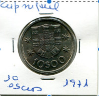 Portugal 10 Esc. (Cu/Ni), 1971 MBC - Other - Europe