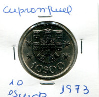Portugal 10 Esc. (Cu/Ni), 1973 MBC - Other - Europe