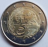 FRANCIA 2 Euros Conmemorativos 2021 - 75 Años Unicef - Other - Europe