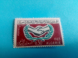 ALGERIE - ALGERIA - Timbre 1965 : Commémoration De La Coopération Internationale - Argelia (1962-...)