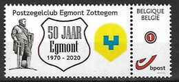 50 Jaar Postzegelclub Zottegem Lamoraal Egmont Egmond Ridder Chevalier Knight MNH  !!! - Timbres Personnalisés