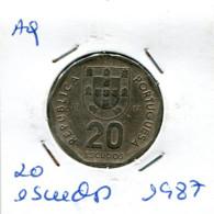 Portugal 20 Esc. (Cu/Ni), 1987 MBC - Other - Europe
