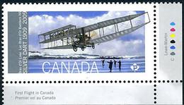 Canada 2009 First Canadian Flight 100 Years AEA McCurdy Silver Dart Premier Vol (YT 2418, Mi 2536, Scott 2317 ) - Airplanes