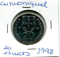 Portugal 20 Esc. (Cu/Ni), 1998 MBC - Other - Europe